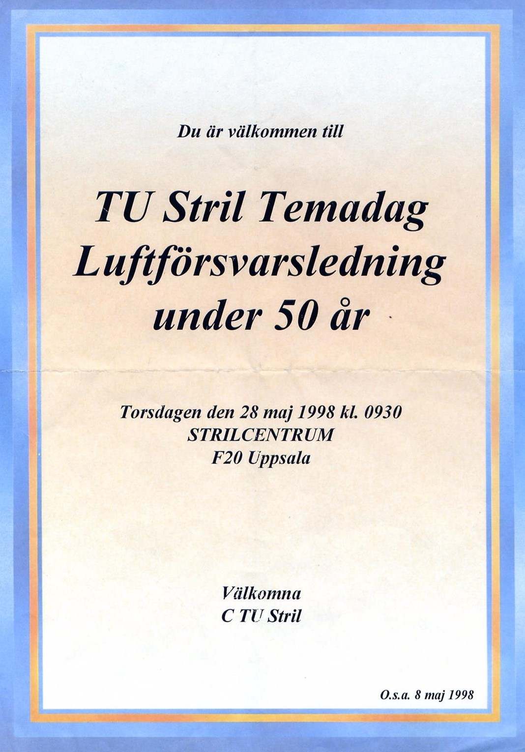 TU-stril Temadag