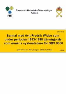 Samtal med övlt Fredrik Wiebe